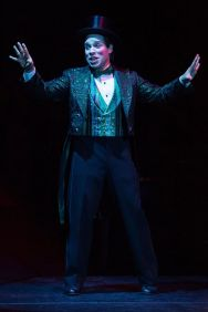 Robin De Jesús as the Emcee in Cabaret, produced by Music Circus at the Wells Fargo Pavilion July 26-31. Photo by Kevin Graft.