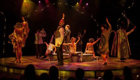 The company of Cabaret, produced by Music Circus at the Wells Fargo Pavilion July 26-31. Photo by Kevin Graft.