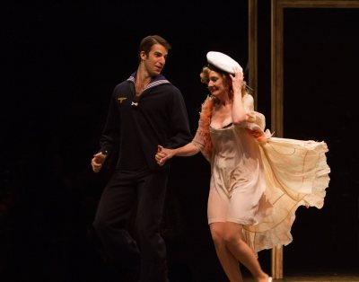 Zach Williams as a sailor and Heather Lee as Fraulein Kost in Cabaret, produced by Music Circus at the Wells Fargo Pavilion July 26-31. Photo by Kevin Graft.