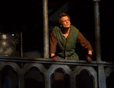 John McGinty as Quasimodo in The Hunchback of Notre Dame, produced by Music Circus at the Wells Fargo Pavilion August 23-28. Photo by Kevin Graft.