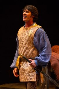 Eric Kunze as Captain Phoebus de Martin in The Hunchback of Notre Dame, produced by Music Circus at the Wells Fargo Pavilion August 23-28. Photo by Kevin Graft.