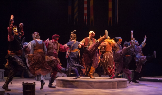 The company of The Hunchback of Notre Dame, produced by Music Circus at the Wells Fargo Pavilion August 23-28. Photo by Charr Crail.