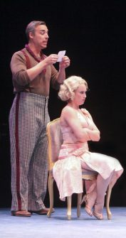 (L to R) Mark Bradley Miller as Duke Mahoney and Holly Ann Butler as Jeannie Muldoon in Nice Work If You Can Get It, produced by Music Circus at the Wells Fargo Pavilion August 9-14. Photo by Charr Crail.