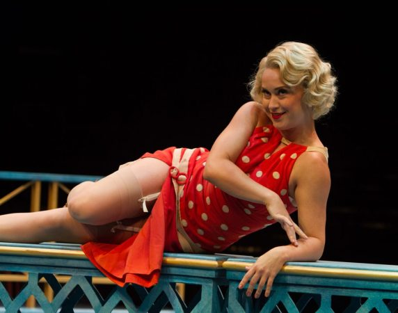 Holly Ann Butler as Jeannie Muldoon in Nice Work If You Can Get It, produced by Music Circus at the Wells Fargo Pavilion August 9-14. Photo by Kevin Graft.