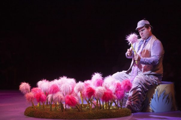 John Treacy Egan as Horton the Elephant in Seussical, produced by Music Circus at the Wells Fargo Pavilion July 12-17. Photo by Charr Crail.