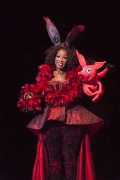 Sharon Wilkins as Sour Kangaroo in Seussical, produced by Music Circus at the Wells Fargo Pavilion July 12-17. Photo by Charr Crail.