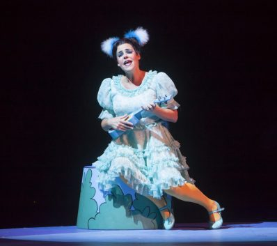 Bets Malone as Gertrude McFuzz in Seussical, produced by Music Circus at the Wells Fargo Pavilion July 12-17. Photo by Charr Crail.