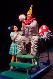Bets Malone as Gertrude McFuzz and John Treacy Egan as Horton the Elephant in Seussical, produced by Music Circus at the Wells Fargo Pavilion July 12-17. Photo by Charr Crail.