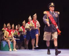 Stuart Marland as General Genghis Kahn Schmitz and the Junior Company in Seussical, produced by Music Circus at the Wells Fargo Pavilion July 12-17. Photo by Charr Crail.