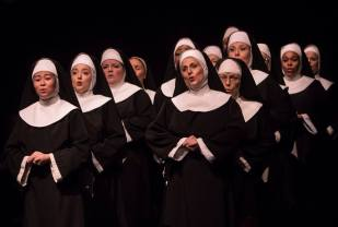 The Company of Sister Act produced by Music Circus at the Wells Fargo Pavilion August 22 - 27. Photo by Kevin Graft.