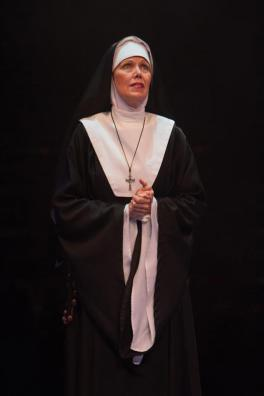Lynne Wintersteller as Mother Superior in Sister Act produced by Music Circus at the Wells Fargo Pavilion August 22 - 27. Photo by Kevin Graft.
