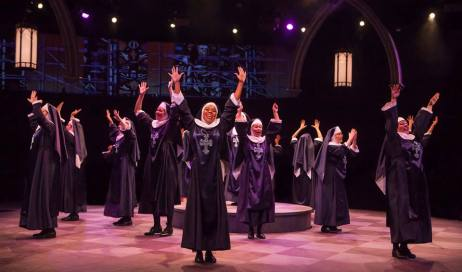 The company of Sister Act produced by Music Circus at the Wells Fargo Pavilion August 22 - 27. Photo by Charr Crail.